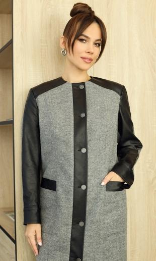Мода Юрс 2597-1 Кардиган (серый)